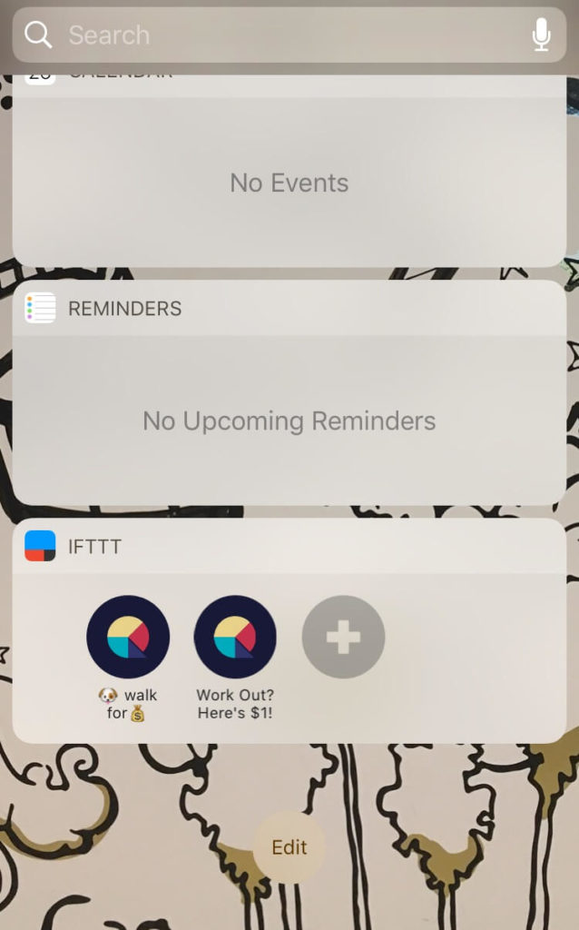 "Don't tell anyone, but I've never once tapped that ""work out"" widget."